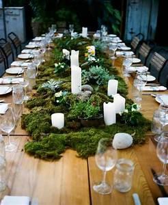 Deko Für Weiße Möbel : dekoideen fr hling moos wei e kerzen auf tisch aus holz diy deko ideen f r zuhause pinterest ~ Indierocktalk.com Haus und Dekorationen