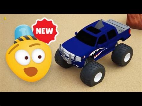 monster trucks races cartoon monster trucks races 3d video for kids cartoons for