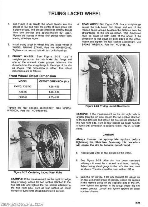 1985-1990 Harley Davidson FX Softail Motorcycle Service Manual