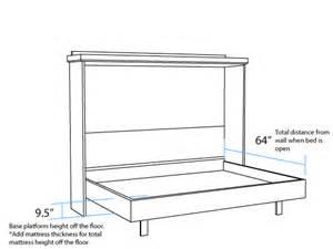 horizontal dimensions murphy beds portland