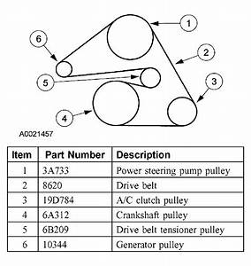 31 2000 Ford Taurus 30 V6 Serpentine Belt Diagram
