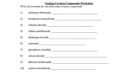 Naming Worksheet Oaklandeffect