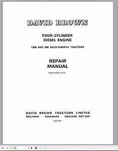 Case Engine David Brown 990  U0026 1200 Repair Manual 9-37121 - Homepage