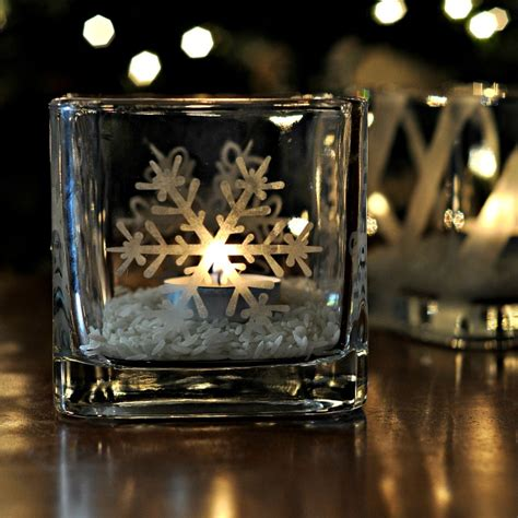 snowflake candle holders snowflake etched candleholders suburble
