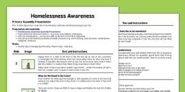 Homelessness Awareness Needs And Wants Activity Homelessness