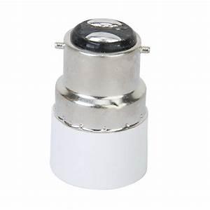 Pk 5x B22 To E14 Screw Led Light Bulb Socket Adapter