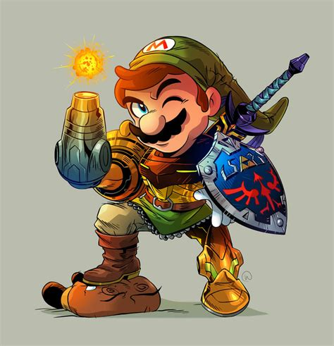 Mario Would Look Like This If He Were Part Link And Part