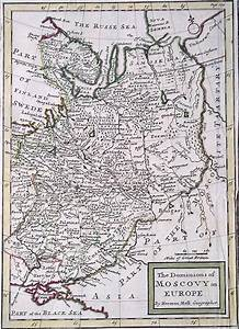 Eighteenth Century Map Of Russia By Herman Moll Circa 1730