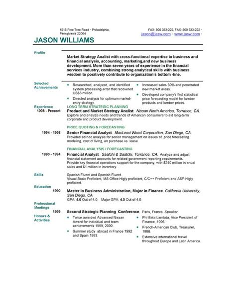 Which Resume Format Is Best For Me by Resume Format Resume Format Galleries