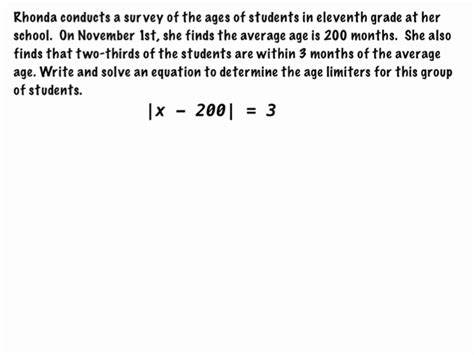 absolute value equations and inequalities word problems
