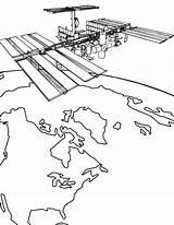 Coloring Space Satellite Nasa Station Kleurplaten Ruimtevaart International Kleurplaat Dibujos Iis Drawing Artificial Colorear Raum Dibujo Espaciales Estaciones Ninos Fun sketch template