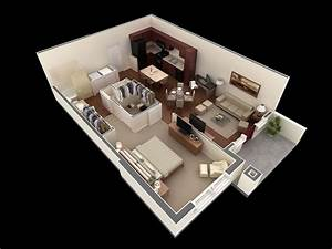 50 one 1 bedroom apartment house plans architecture With 1 bedroom flat house plan