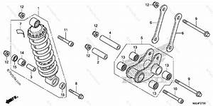 Honda Motorcycle 2015 Oem Parts Diagram For Rear Shock
