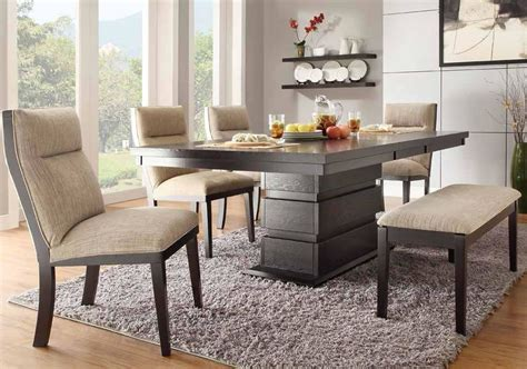 oval kitchen table with bench padded dining table bench with table and there are