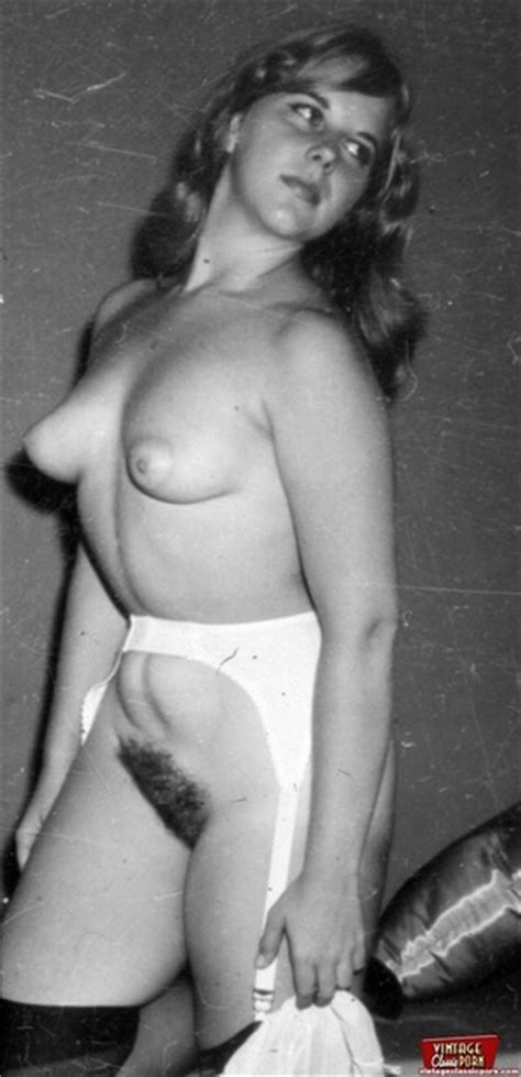 daring vintage chicks with hairy pussies in the fifties