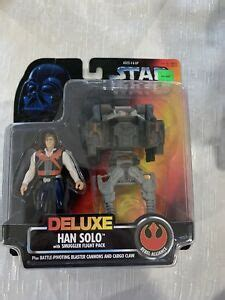 1996 DELUXE STAR WARS POWER OF THE FORCE HAN SOLO WITH ...