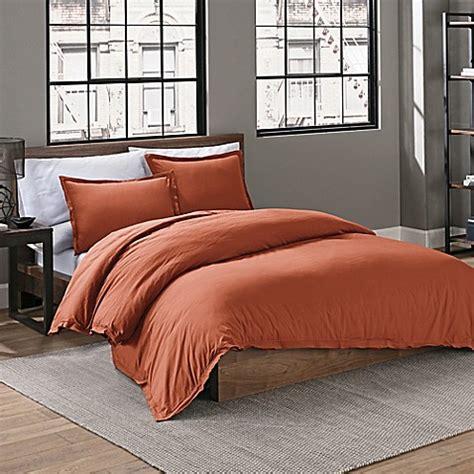 orange duvet cover king buy garment washed solid king duvet cover set in burnt