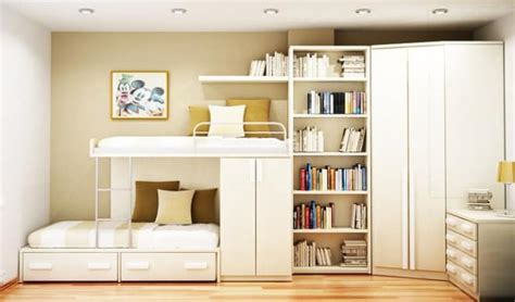 Contemporary Bedroom Design Small Space Loft Bed by Compact Furniture For A Small Sized Room