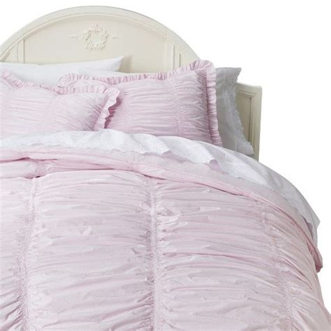simply shabby chic 174 rouched comforter set pink full queen