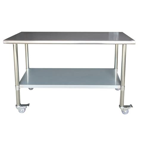 stainless steel table l sportsman stainless steel kitchen utility table with