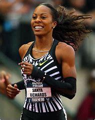 as fianc 233 e sanya richards sprints for gold giants