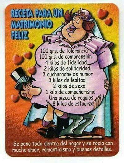 receta   matrimonio feliz cartelitos pinterest