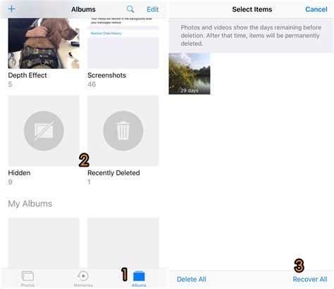 recently deleted photos iphone 2 ways to recover recently deleted photos on iphone 6 6s 7