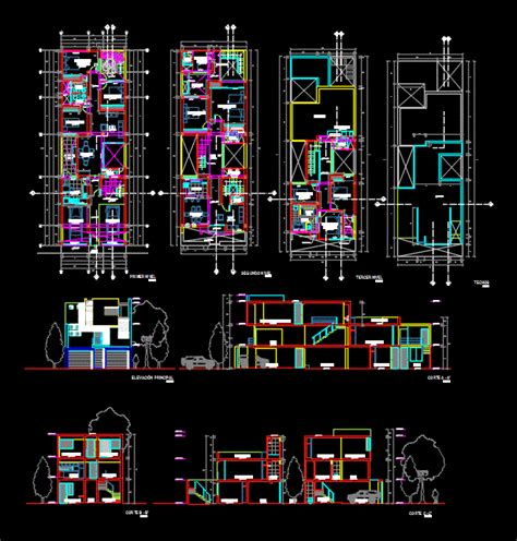 single family house  dwg plan  autocad designscad