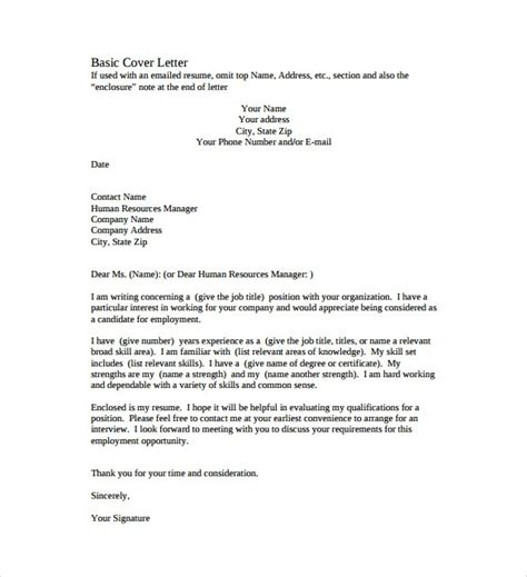 simple cover letter templates 35 free sle exle