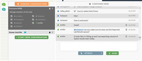 intra office chat feature cerbo