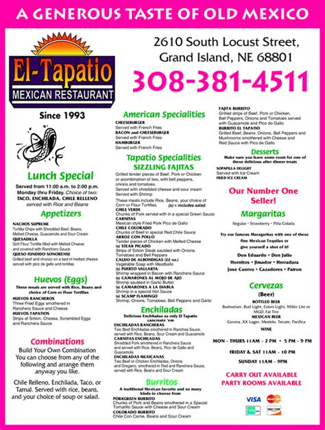 el tapatio mexican restaurant grand island ne 68801 8228