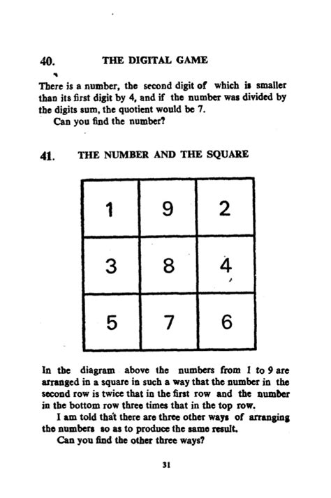 These math puzzles can sharpen the kids mind and also increase the thinking ability. Puzzles to Puzzle You.pdf