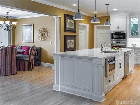 oversized kitchen island hosts appliances