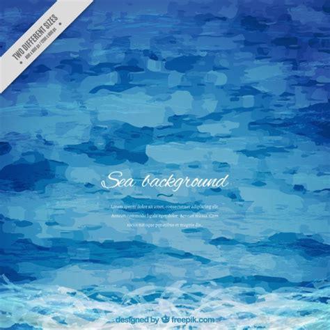 simple floor watercolor artistic sea background vector free