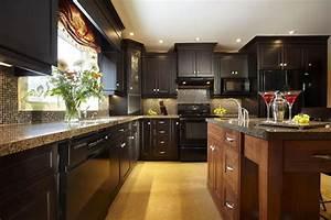 18 kitchen designs incorporating dark rta cabinets With small dark kitchen design ideas