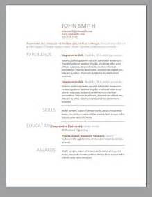 free modern resume templates for word resume exles 2017
