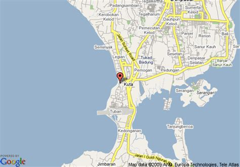map  hotel padma bali kuta
