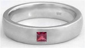 men39s princess cut garnet wedding band with 6mm comfort With garnet mens wedding rings