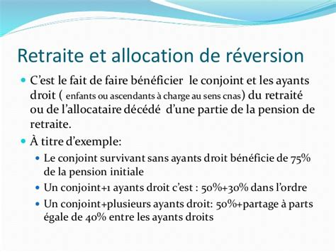 exemple de pension de reversion