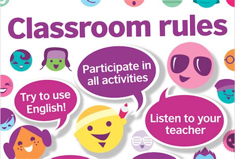 teens classroom rules posters smart white