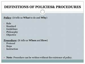 Writing Policies And Procedures Template Writing Effective Policies Procedures2
