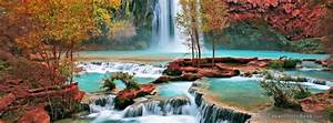 Beautiful Colored Waterfall Facebook Cover - Nature