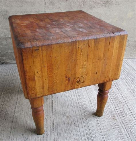 Butcher Block Table Antique  Butcher Block Table To Match