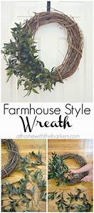 DIY Farmhouse Style Wreath - At Home with The Barkers