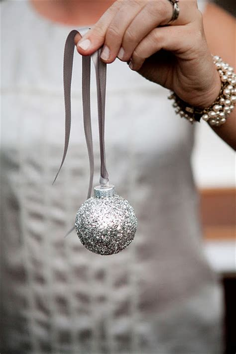 diy glitter christmas tree ornaments shelterness