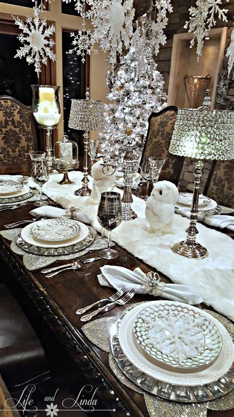 bauble table decorations snowflakes and baubles tablescape holiday tablescape holidays and christmas decor
