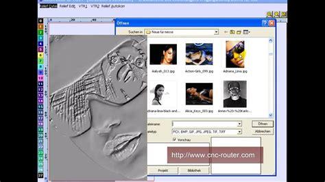 cnc cad cam software construcam  relief aus foto