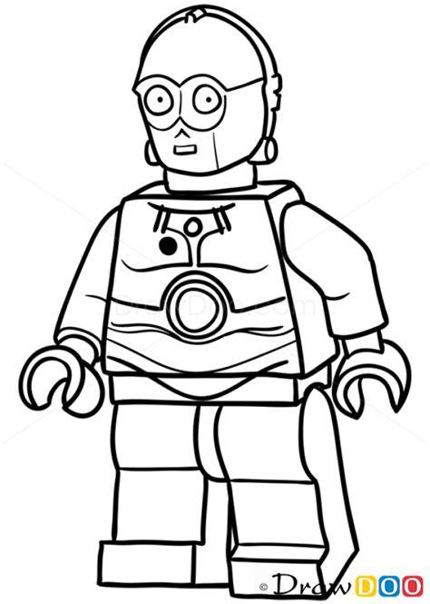C3po Kleurplaat by How To Draw C 3po Lego Starwars Lego