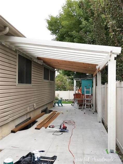 pergola attached to house build a patio pergola attached to the house page 2 of 2