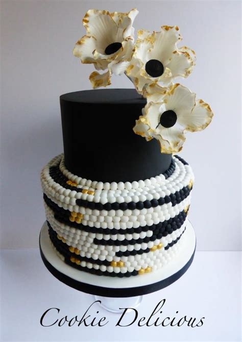 freya black gold wedding cake cake  cookie